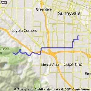 To Rancho San Antonio Open Space Preserve