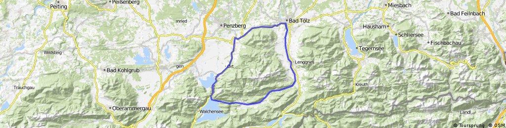 Bad Tölz - Kesselberg -Jachenau-Runde