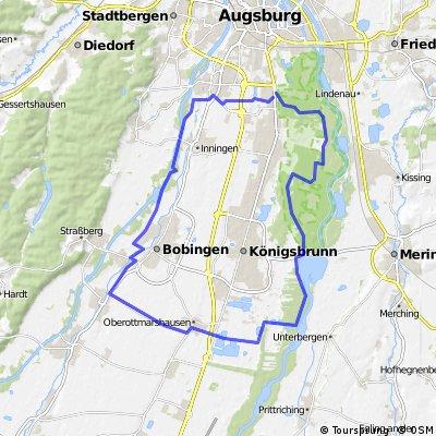 Augsburg-Mandichosee-Wehringen-Bobingen-Inningen