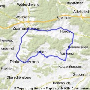 Rennrad-Runde westl. von Augsburg