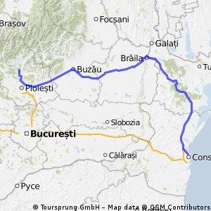 Traseul Coto-Braila-constanta