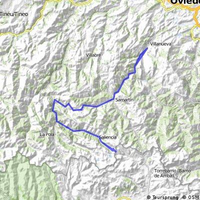 Ruta Vuelta a España desde Villanueva