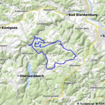 Schwarzburg-Bockschmiede-Rohrbach-Dittrichshütte-Schwarzburg