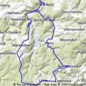 Schwarzburg-Meura-Schmiedefeld-Unterweißbach-Schwarzburg