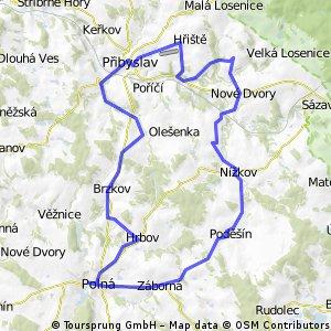 Z Přibyslavi na zámek Polná
