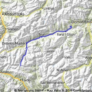 Cycling routes and bike maps in and around Laax Bikemap Your