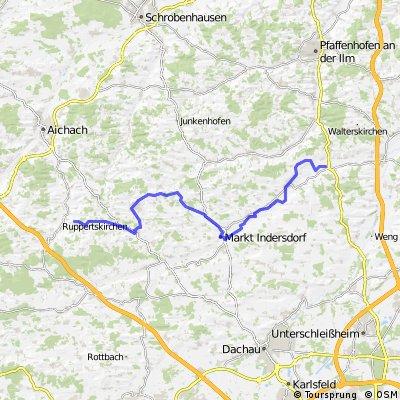 Altbaierischer Oxenweg im Dachauer Land