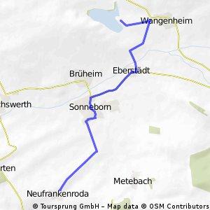 Bundescamp 2014 Neufrankenroda: Wanderung zum Stausee