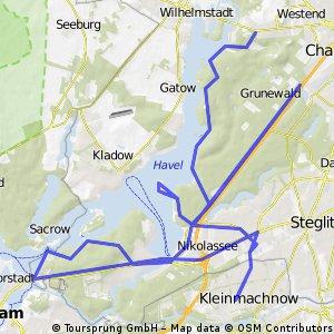 Glienicker Brück, Havelchausee, Krone