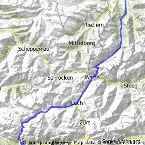 Transalp Etappe 1: Oberstdorf - Dalaas CLONED FROM ROUTE 258880
