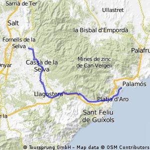 Sant Antoni de Calonge - Vies Verdes Girona (Fornells)