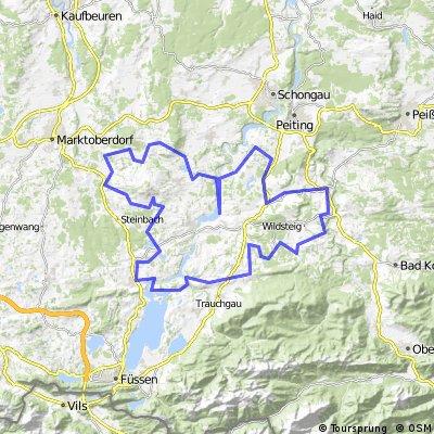 Stötten - Haßlach - Pfaffenwinkel - Roßhaupten - Stötten