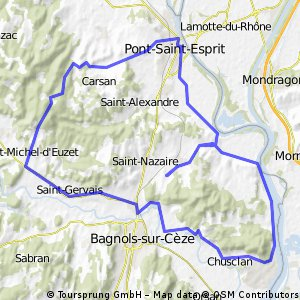DAG 1 Vénéjan: 54 km
