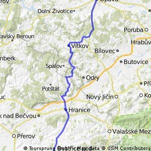 Opava - Hranice - Bystřice pod Hostýnem