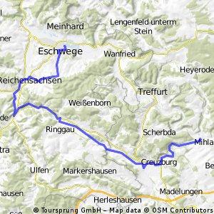 Eschwege - Wichmannshausen - Mihla - Eschwege / Teil 1