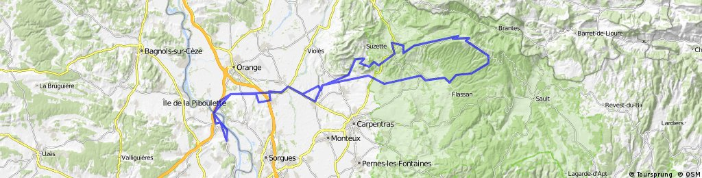Sauveterre - Mont Ventoux
