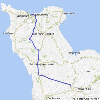 Cherbourg to Hébécrevon (Long)