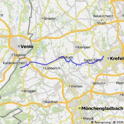 Tag 1 der Radtour im August 2014 - 1. Etappe
