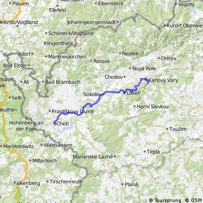 ADFC-Hof: Tour von Cheb nach Karlovy Vary