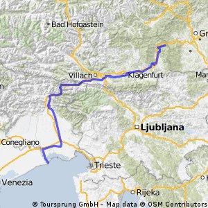 Rennradtour nach Lignano