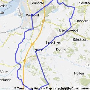 42km Schiffdorf-Hosermühlen-Bexhövede-Nesse-Schwegen-Holte-Fleste-Wulsdorf-Surheide-Schiffdorf