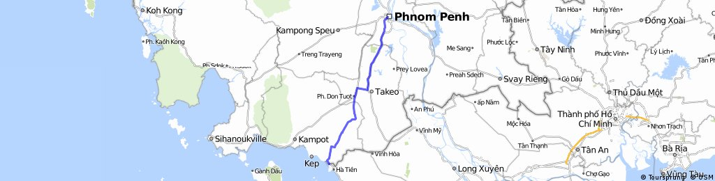Ha Tien to Phnom Pen