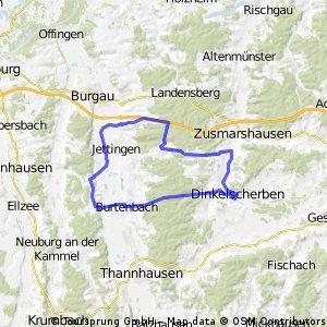 Rennrad-Tour Dinkelscherben - Jettingen - Burtenbach