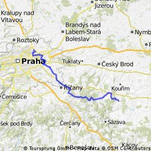 Prosek - Kyje - Říčany - Tehov - Nučice - Barchovice