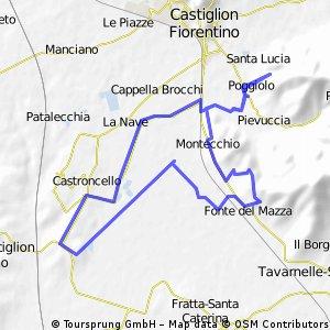 Morgendliche Talrunde durch die Toskanische Landschaft