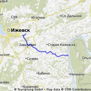 Гольяны - Ижевск по полям