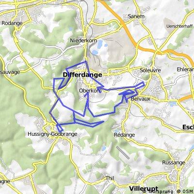 Tour Uerwerkuer - Belvaux - Differdange - Hussigny