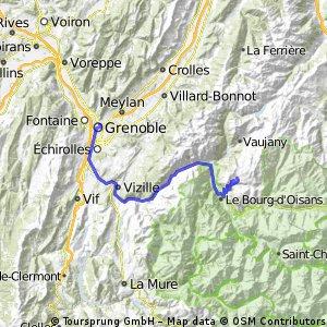 na Alpe d Huez z Grenoblu