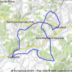 Excideuil 25 km / 351 hm