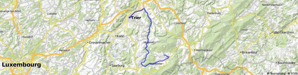 Oude spoorlijnroute Hermenskeil - Trier
