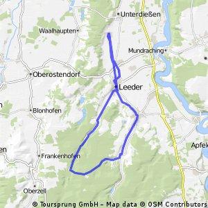 Oberdiessen - Asch - Leeder Denklingen - Dienhausen - Aschtal - Leeder - Asch - Oberdiessen
