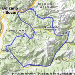 """Dolomiten – """"Den Rosengarten im Visier"""" - Variante 1"""