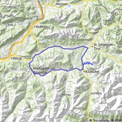 Itter - Kitzbüheler Horn (via Ellmau) -Kirchberg - Hopfgarten -Itter
