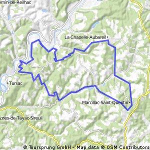 Vanaf La Pinsonnerie 50 km aan de bak