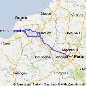 Seine- Le Havre to Paris