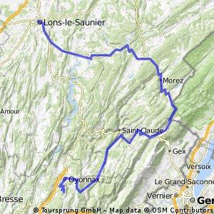 Lons-le-Saunier - Oyonnax-La Grande Montagne (e3 PN)