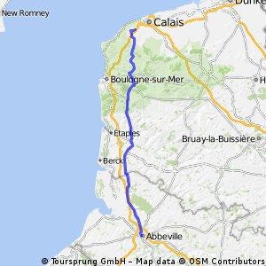 Day 2 - Calais to Abbeville
