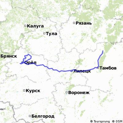 Орёл-Елец-Липецк-Моршанск