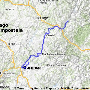 Et 20 Ruta alternativa - Luintra , Navia de Suarna ( A Proba de Navia 169 km