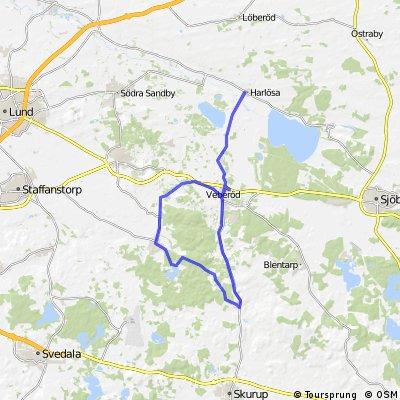 Romeleåsen - 54 km