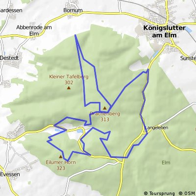 Kleine Trail Elmrunde ab Diana Ruh CLONED FROM ROUTE 85302