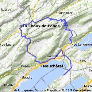 Cudrefin - Vue-des-Alpes - Chasseral - Le Landeron