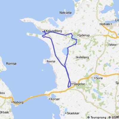 Slagelse - Bromølle -Kalundborg - Slagelse