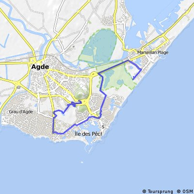 Cycling routes and bike maps in and around Le Cap D\'Agde | Bikemap ...