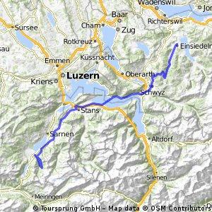JE4: Einsiedeln, Schwyz, Gassau, Stans, Giswil