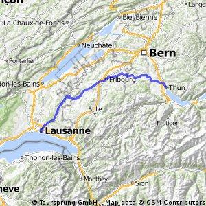 JE6: Thun, Freiburg, Moudon, Lausanne